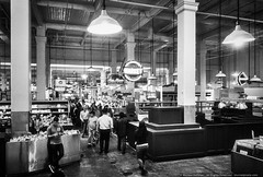 Grand Central Market (mhoffman1) Tags: grandcentralmkt anamaria aurorahdr districtmarket hdr losangeles rx100iv roasttogo silverefexpro blackandwhite grocery market monochrome restaurants