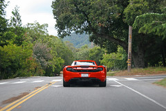 Chasing (sumosloths) Tags: santa clara trees orange car forest volcano bay back los san francisco driving angle saratoga jose rear gatos mclaren valley area 17 spotted behind roads windshield straight silicon g35 spotting mp4 chasing following infiniti 280 carspotting 12c mp412c sumosloths