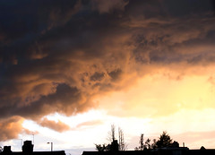 Scary sky (scbeck11) Tags: uk blue light sunset summer england orange storm london rooftop june yellow buildings dark scary purple brooding walthamstow walthamforest turneresque nebulous