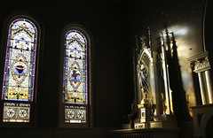 Lady Altar (Lawrence OP) Tags: our light reflection statue lady sisters nashville stainedglass altar oratory blessedvirginmary dominicans