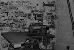 A Singer sewing machine at the factory where I first started working for my dad in 1986. (MAMF photography.) Tags: old uk greatbritain england blackandwhite bw blancoynegro blanco monochrome sex evening blackwhite google nikon flickr noir noiretblanc zwartwit unitedkingdom britain yorkshire negro north memories leeds gb upnorth zwart pretoebranco schwarz biancoenero westyorkshire morley greatphoto googleimages singersewingmachine northernengland enblancoynegro zwartenwit ls27 mamf inbiancoenero blancoenero schwarzundweis morleyleeds nikond7100 mamfphotography