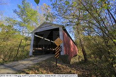 2015-10-16 1150 (Badger 23 / jezevec) Tags: pictures travel bridge vacation tourism arquitetura architecture rural america puente photography photo arquitectura midwest unitedstates image photos indiana images ponte american covered coveredbridge architektur pont brug thingstodo brcke   architettura architectuur arkitektur 1100  destinations midwestern architektura silta   arhitektura ponticello pontcouvert  pontecoberta        arhitektuur overdektebrug   lvka puentecubierto berdachtebrcke stavebnictv overdkketbro katettusilta    dekketbroen pokrytemostu  omfattasbro