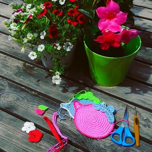 Work in progress #madewithlove #vendulkam #customorder #crochet #coaster #crochetcoaster #vendulkampattern #teapot #crochetteapot #kitchentable #etsy #etsyhandmade #etsyseller #crocheteveryday #ilovemywork #crochetaddict #crochetlove #crocheting #ourgarde