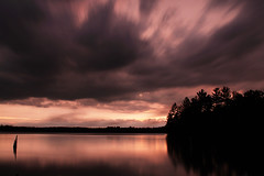 (Tom Roadcap) Tags: blue trees red orange lake silhouette long exposure gray peaceful driftwood tranquil