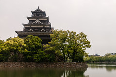 Hiroshima Castle (TheSpaceWalker) Tags: tower water japan photography photo nikon wwii pic hiroshima 1750 tamron atomicbomb abomb d300 hiroshimacastle thespacewalker