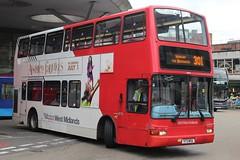 National Express West Midlands Volvo B7TL/Plaxton President 4073 (V73 MOA) (Walsall) (john-s-91) Tags: walsall plaxtonpresident 4073 route301 volvob7tl nationalexpresswestmidlands v73moa absolutelyfabulousthemovie