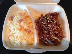 Crispy beef and Cantonese rice, Sokee, Clarens, Switzerland (Creusaz) Tags: crispy beef cantonese rice sokee clarens switzerland