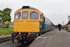 33035 at Kidderminster. 20/5/16 (Nick Wilcock) Tags: railways svr severnvalleyrailway kidderminster crompton class33 brblue dieselgala 33035