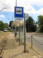 Tram stop in Szczecin (transport131) Tags: tram stop przystanek tramwaj szczecim zditm pogodno infrastruktura infrastructure