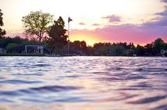 60 (_T_Willi_95) Tags: sunset summer usa lake nature beautiful night canon outdoors boat americanflag edits photograghy lakeorion canont3i rebelt3i