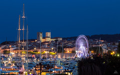 City of Antibes (France), Old City Night View (Domi Art Photography) Tags: autofocus antibes juanlespins night bynight cityview oldcity city cityscape landscape seascape seaport seacity sea caroussel carousel lights colors sky blue bluehour bluesky france paca cotedazur alpesmaritimes travel frenchriviera