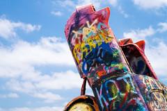 Cadillac Ranch ii (Eric Baggett) Tags: blue sky art love graffiti colorful texas americana spraypaint cadillacranch iconic photosofart sonya7rii sonyfe2470mmgm