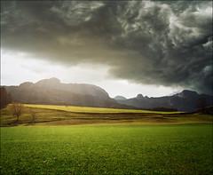 Sun won (Katarina 2353) Tags: autumn storm film field germany landscape deutschland nikon europe katarinastefanovic katarina2353