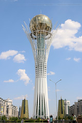 Bayterek Tower Astana (totoro - David D.) Tags: tower tour kazakhstan astana bayterek