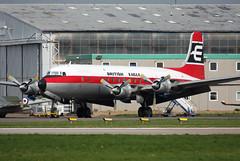 Air Atlantique DC-6/C-118 Liftmaster                          British Eagle Clrs (Wiggy66) Tags: coventry dc6 cvt airatlantique liftmaster gapsa c118 britisheagle
