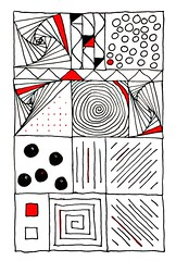 Sales meeting (Steven Vacher) Tags: red colour art illustration sketch drawing whitebackground doodle sharpie doodles zentangle