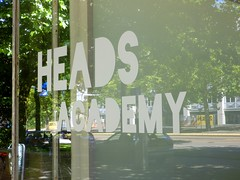 Heads Academy (Quetzalcoatl002) Tags: school window education heads relection academy hairdressers friseur