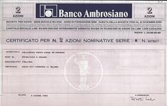 BANCO AMBROSIANO (scripofilia) Tags: 1896 bancoambrosiano