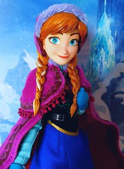 Medicom (ozthegreatandpowerful) Tags: anna real frozen doll dolls action hero figure rah heroes elsa medicom