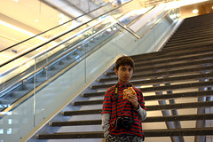 Nico (Ian Muttoo) Tags: camera boy portrait toronto ontario canada lines horizontal stairs ryerson stair photographer child stripes stripe gimp line pizza staircase mapleleafgardens nico ryersonuniversity ufraw dsc16721edit