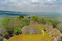 An empire from here (moonbird) Tags: belize cayo centralamerica xunantunich faketiltshift mayanarcheology sanignaciobelize themayans