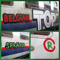 Belgian Top Sprayer... Rush? (Paintedtrains) Tags: graffiti rush traingraffiti paintedtrains
