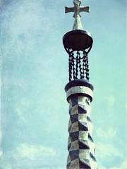 Gaudi (Liz Lugo) Tags: barcelona trip travel blue sky espaa photography photo spain gaudi