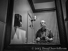 2052  reflections of me... (Doug Churchill) Tags: california blackandwhite bw white selfportrait man reflection male guy public bathroom 1 mirror athletic alone unitedstates adult interior streetphotography handsome mature american single short attractive restroom ambient streetphoto inside goodlooking boomer babyboomer oneperson slender lean middleage humaninterest caucasian oroville northamerican middleaged 52weeks dougchurchill canong12