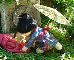 Yulan (Puppula) Tags: asian clothing waldorf silk cuddle steiner waldorfdoll silkdress steinerdoll