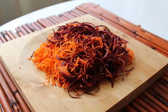 spiralized heirloom carrots. beautiful. (j_anxious) Tags: vegan plantbased