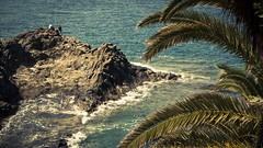 Desert Island (Gilderic Photography) Tags: ocean sea summer people sun cinema tree nature water rock canon eos islands spain couple raw waves widescreen wide canarias palm atlantic espana shore tenerife canary cinematic canaries espagne islas palmier iles 500d gilderic