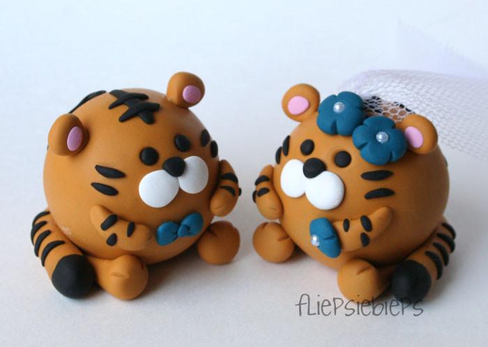 Tiger Wedding Cake Topper Fliepsiebieps Tags Cute Penguin Funny Couple Panda Sweet