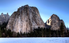 Yosemite - Cathedral Rocks (Doug Santo) Tags: nature yosemite yosemitevalley naturephotography cathedralrocks yosemiteinwinter yosemitetrails