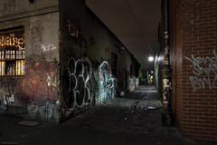 Untitled (Ranga 1) Tags: longexposure nightphotography urban night canon graffiti lowlight alley nocturnal decay fitzroy australian australia melbourne victoria explore lane suburbs australianlandscape urbanlandscape nightexposure davidyoung lowlightphotography ef1740mmf4lusm innersuburbs innermelbourne canoneos5dmarkii