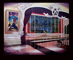 The Masque of Huntwell House-----Key background.  Mark Longo..acrylic painting on canvas. (Mark Longo Art & Design) Tags: art heraldry artnouveau acrylicpainting animationart heraldicsymbols classicalperspective marklongo societyoffriendsstarlogoredblack crossoflorrainesymboloftheliberation aaronsrodsymbolofresurrectioneternalspirit marklongoart