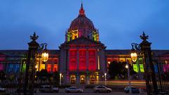 SF Pride (zoxcleb) Tags: sanfrancisco california longexposure color night canon unitedstates cityhall weekend pride civiccenter sfist sfpride canon5dmk3 5dmk3