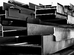 Steel (bcostin) Tags: bw construction steel f11 beams girders silverefex