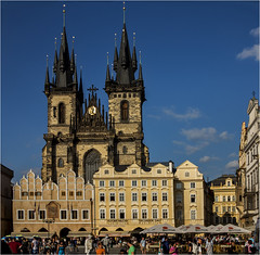 Church of our Lady before Tyn Old Town Prague (Blackburn lad1) Tags: city trip travel holiday church canon gold europe tour gothic unesco worldheritagesite stunning czechrepublic citycentre touring beautful