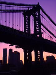 Under The Bridge (Carlos Obregn M.) Tags: sunset newyork brooklynbridge