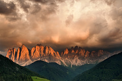 Odle Version #1 (Corsaro078) Tags: sunset sky mountain clouds landscape tramonto nuvole cielo paesaggio dolomites dolomiti valdifunes odle