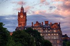 Balmoral Hotel Clock Tower,  Edinburgh (CamelKW) Tags: uk sunset scotland edinburgh unitedkingdom clocktower balmoralhotel balmoralhotelclocktower uk2013