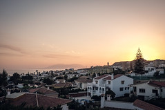 Rooftop Sundown (Adam Haranghy) Tags: street trip travel people holiday cars port puerto photography spain warm harbour urlaub journey finepix shops fujifilm expensive tones andalusien scenes luxury luxus malaga spanien reise x100