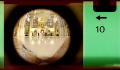Malaga Cathedral (interior) (pho-Tony) Tags: camera old fish color colour eye film toy iso200 miniature lomography fuji 110 toycamera wide fisheye number novelty edge 200 frame pocket expired 16mm malaga toycameras markings 170 instamatic cartridge perforation fujicolor c41 subminiature arror tetenal 170degrees edgemarkings multicamsource fisheyebaby110