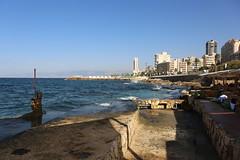 Lebanon / Libanon Beirut   Bairt Bayrut 22.10.2013  IMG_0418 (Thomas Rossi Rassloff) Tags: beach wasser sommer urlaub beirut sonne kste wellen libanon mittelmeer erholung erfrischung
