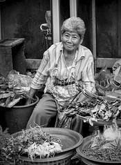 Characters around the city markets (Marty Johnston) Tags: portrait blackandwhite bw food monochrome asian thailand mono blackwhite asia fuji market candid markets vegetable thai chiangmai characters marketplace stalls sellers vendors greatphotographers xe1