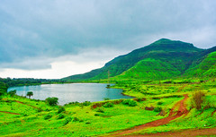 Picturesque view of Railway dam, Igatpuri ([s e l v i n]) Tags: blue wallpaper india mountain lake green clouds landscape frames scenery hill scenic hires monsoon prints greenery maharashtra wallpapers hdr igatpuri greenearth railwaydam ©selvin lpfantasy d7100wallpapers