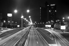 New Belgrade Highway @ 01:00 (Misko78) Tags: blackandwhite film night highway long exposure minolta rodinal expired 1100 minoltaxg2 2min agfapan25 nightfoto standdeveloping mdzoom357035