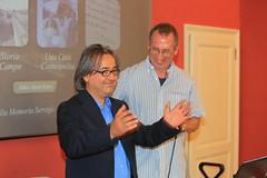 Servigliano mayor and Ian McCarthy at Casa della Memoria, Servigliano