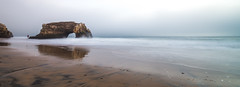 Timeless encounters (tuninglever) Tags: california longexposure santacruz beach nikon wave naturalbridge d800e