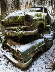 Båstnäs Car Cemetery (Arvid Björkqvist) Tags: winter snow cemetery graveyard car rust sweden hdr urbex värmland carcemetery cargraveyard bilkyrkogård båstnäs